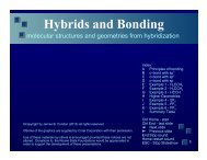 Hybrids and Bonding