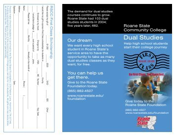 Dual Studies - Roane State Community College