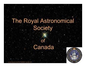 and BPC member - RASC National - The Royal Astronomical ...