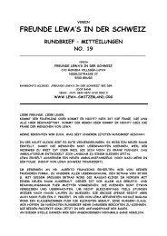 Rundbrief Nr. 19 vom April 2013 - Lewa Schweiz