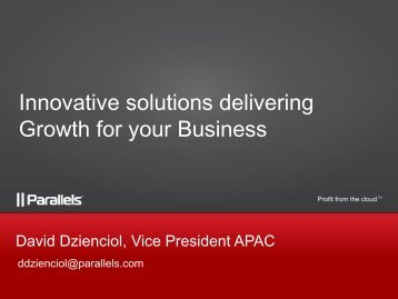 Innovative solutions delivering growth for your business
