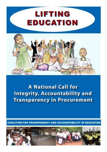 accountability and transparency in public procurement Transparency in public procurement is necessary, but not for all to see  and  ensuring the proper level of transparency and accountability.