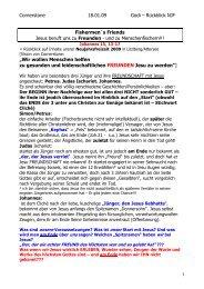 Predigt Fishermen´s Friends 18.01.09 - Cornerstone-Gemeinde Linz