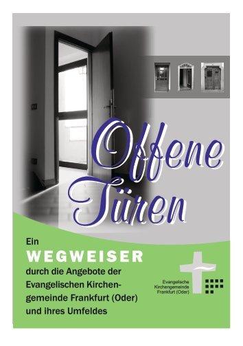 Offene Türen - Ein Wegweiser durch unsere Angebote (Stand 2012)