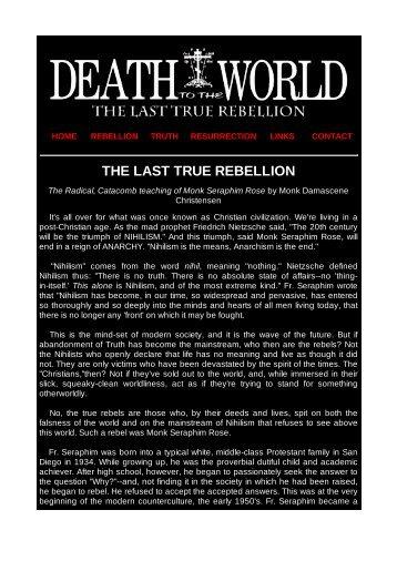 THE LAST TRUE REBELLION - Jimdo