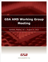 GSA AMS Working Group Meeting