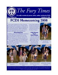 The Fury Times - Forsyth Country Day School
