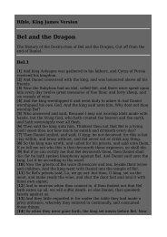 Bel and the Dragon - Jimdo