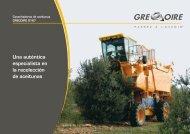 Especificaciones - Gregoire Group : Grégoire (machine à vendanger)