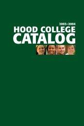 Catalog 2003-2004.pdf - Hood College
