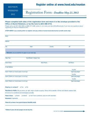 Deadline May 23, 2012 - Hood College