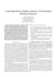 Least-Hop Route Finding Analysis of On-Demand Routing Protocols