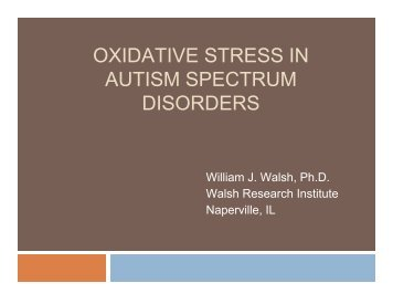 oxidative stress in autism spectrum disorders - Bio-Balance Health