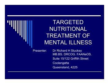targeted nutritional treatment of mental illness - Bio-Balance Health