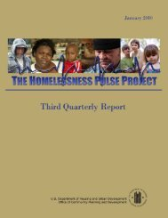The Homelessness Pulse Project - Third Quarterly Report ... - OneCPD