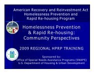 Homelessness Prevention & Rapid Re-housing ... - OneCPD