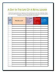 A DAY IN THE LIFE OF A RETAIL LEADER