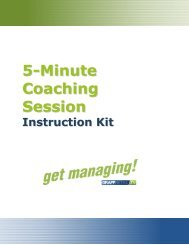 5-Minute Coaching Session