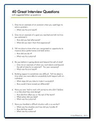 40 Great Interview Questions