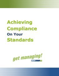 Achieving Compliance Standards