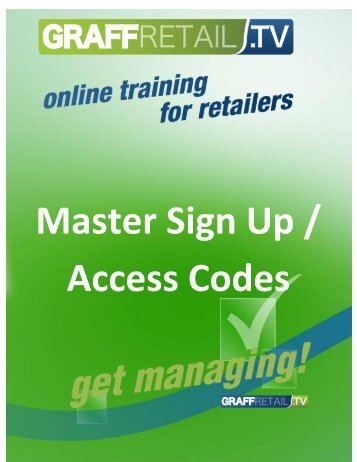 Master Sign Up / Access Codes