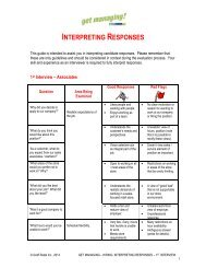INTERPRETING RESPONSES