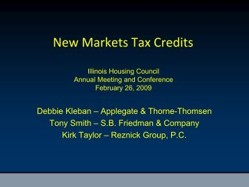 New Markets Tax Credits Presentation - OneCPD