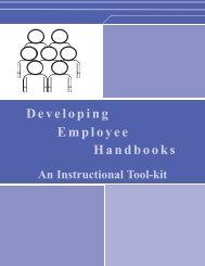 Developing Employee Handbooks: An Instructional Tool-kit - OneCPD