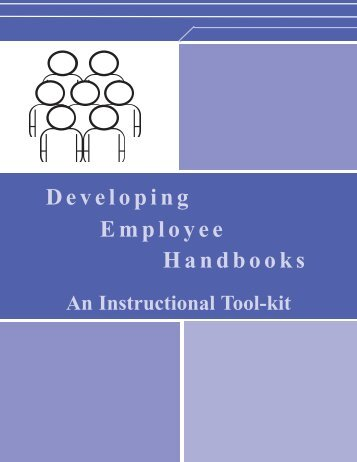 Developing Employee Handbooks: An Instructional Tool-kit - OneCPD