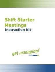 Shift Starter Meetings