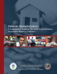 Veterans Homelessness: A Supplemental Report to the ... - OneCPD