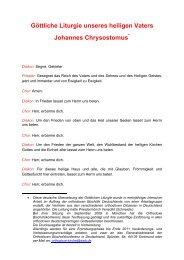 deutsche Übersetzung der Göttlichen Liturgie - Griechisch ...