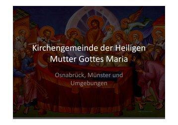Kirchengemeinde der Heiligen Mutter Gottes Maria - Griechisch ...