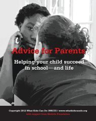 Advice for Parents Handbook (PDF) - What Kids Can Do
