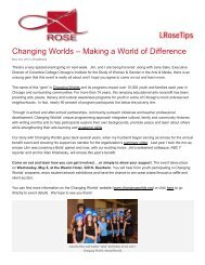 Changing Worlds – Making a World of Difference