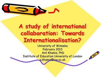 Towards Internationalisation? - University of Education, Winneba