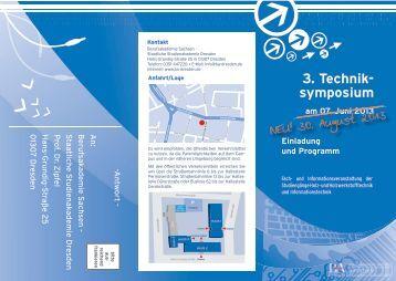 3. Technik- symposium - Berufsakademie Dresden