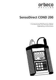 SensoDirect COND 200 - Orbeco-Hellige