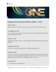 Scriptures for One Prayer Week 2: God Is… Love! - The Life Centre