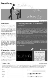 Current Series Diversity in Unity - Generations ... - The Life Centre