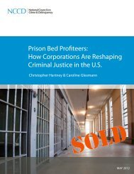 Prison Bed Profiteers - National Council on Crime & Delinquency
