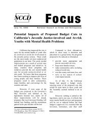 Potential Impacts of Proposed Budget Cuts to California's Juvenile ...