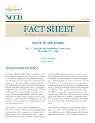 FACT SHEET - National Council on Crime & Delinquency