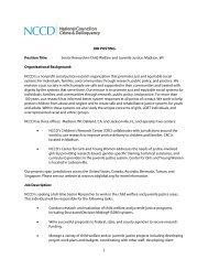 Senior Researcher-Child Welfare and Juvenile Justice, Madison, WI ...