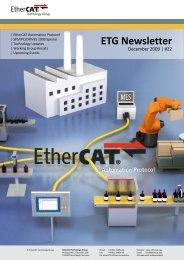 ETG Newsletter - EtherCAT