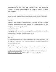 DECOMPOSIÇÃO DA TAXA DE CRESCIMENTO DO NÍVEL ... - Anpec
