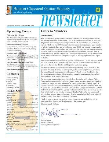 2005 Mar-May - Boston Classical Guitar Society