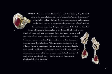 In 1905 the Valobra Jewelry Aterier was founded in Torino, Italy, the ...