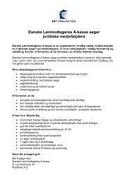 Danske Lønmodtageres A-kasse søger juridiske ... - Det Faglige Hus