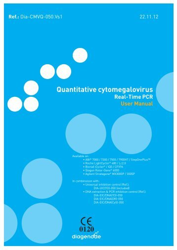 Quantitative cytomegalovirus - Diagenode Diagnostics